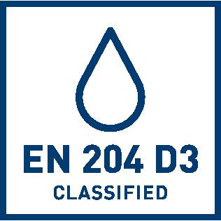 EN 204 D3, класс водоустойчивости