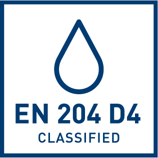 EN 204 D4, класс водоустойчивости