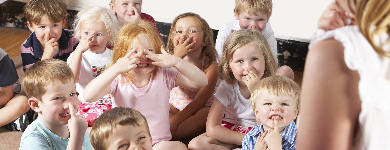 Children in nursery school